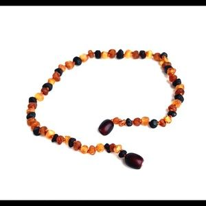 Lolly Llama Baltic Amber Teething Necklace NWOT